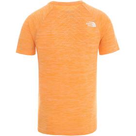 The North Face Impendor Seamless Tee Men flame orange white heather